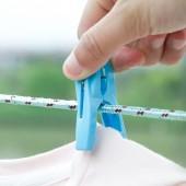 防風夾強力晾衣服夾子衣架晾衣夾家用塑料曬衣襪子架小衣夾晾曬夾 30只裝