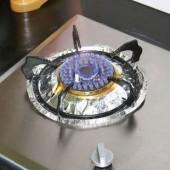 廚房用品防油貼紙爐灶鋁箔紙煤氣灶臺燃氣灶錫紙耐高溫防油清潔墊(10片裝)