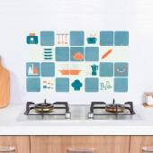耐高溫廚房防油貼自粘貼紙家用灶臺油煙貼卡通防油防水墻貼瓷磚貼