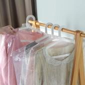 透明掛衣袋子衣服防塵罩防塵袋大衣一次性防塵罩衣服套衣罩10個裝(60*45cm迷你)