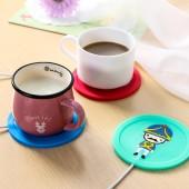 士兵卡通插線硅膠保溫杯墊加熱杯墊恒溫加熱杯熱奶器暖杯器保溫碟 DLQ-1506