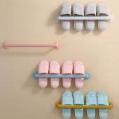 加長型浴室拖鞋架壁掛式免打孔門后置物架廁所瀝水省空間收納神器