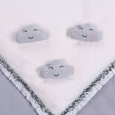 家用被子固定器床單防滑固定夾被角被罩防滑固定扣防跑神器 棉質按壓款 8個裝(云朵)