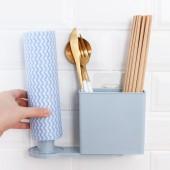 旋轉筷子筒收納架廚房餐具多功能收納架家用臺面廚具雜物架子壁掛置物盒