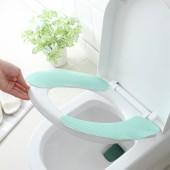 馬桶墊坐墊粘貼式通用坐便墊三件套衛生間可剪裁水洗坐墊圈馬桶貼(條紋3對裝)
