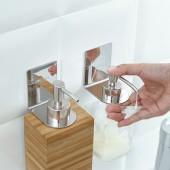 浴室置物架免打孔衛生間壁掛洗發水沐浴露瓶掛架不銹鋼免釘洗發水架無痕架