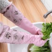 洗碗手套女防水耐磨加絨手套廚房家用清潔洗碗洗菜洗衣服刷碗清潔家務手套 MKL-033(S碼)