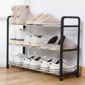 原色金屬管鞋架免打孔家用省空間現代多功能鞋柜組裝簡易客廳多層收納置物架(窄款鞋架)