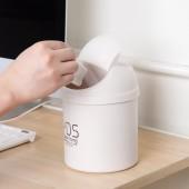 垃圾桶桌面垃圾桶創意塑料帶蓋迷你桌面收翻蓋桶家用客廳桌面垃圾筒