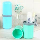 旅行洗漱杯便攜式牙刷盒衛生間太空膠囊洗漱套裝創意膠囊漱口杯牙刷杯