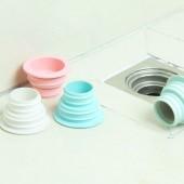 下水道防臭防堵蓋硅膠密封圈衛生間廚房浴室廁所圓形螺旋狀密封塞伸縮頭地漏