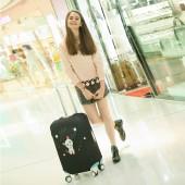 獨立印花卡通圖案彈力加厚耐磨行李箱套拉桿箱套旅行防塵罩保護套(L碼)350
