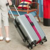 出國旅行彩帶狀桿箱包捆綁帶可調節一字十字打包帶子旅游加固托運綁帶(5cm 黑扣)