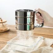 茶缸狀手持不銹鋼杯式面粉篩過濾網篩特細20目廚房烘焙工具家用篩網篩子