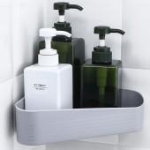 衛生間置物架壁掛浴室角架收納架免打孔衛浴吸壁式吸盤瀝水架三角架