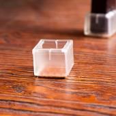 創意加厚耐磨防滑全透明硅膠桌椅腳套家具靜音地板保護墊椅子凳子桌腳墊(8號 方底方口 3-3.5cm)