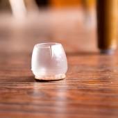 創意加厚耐磨防滑全透明硅膠桌椅腳套家具靜音地板保護墊椅子凳子桌腳墊(2號 圓底圓口 3.7-4.2cm)
