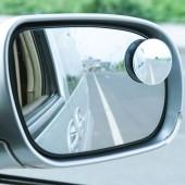 后視鏡小圓鏡汽車反光鏡盲點輔助鏡可調盲區鏡360度圓形鏡廣角倒車鏡(兩個裝)