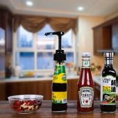 蠔油擠壓器家用番茄醬按壓器醬油按壓式泵頭擠耗油神器耗油按壓嘴(硅膠吸管)