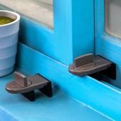 防盜窗鎖塑鋼鋁合金推拉窗戶鎖平移窗鎖扣兒童防護防盜限位器