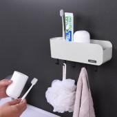衛生間吸壁牙刷收納架牙刷筒牙刷杯牙刷置物架壁掛式牙刷架洗漱套裝