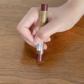 木質家具地板補色蠟筆實木復合門窗地板修補漆膏破損釘眼劃痕修復