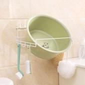 臉盆架衛生間掛鉤浴室洗臉盆收納架強力吸盤掛鉤置物架粘鉤掛架掛盆架