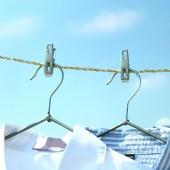 晾衣夾不銹鋼防滑晾曬夾襪子夾家用毛巾夾防風固定夾衣服夾子(20個裝)