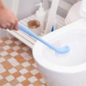 30年老品牌振興 馬桶刷衛生間彎曲加厚塑料家用無死角彎曲長柄軟毛清潔廁所刷子廁所刷 (SA125)