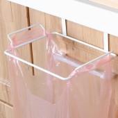 櫥柜門背式垃圾袋支架掛鉤廚房塑料袋掛架掛式垃圾桶熊貓頭可掛式垃圾架