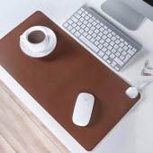 鼠標墊加熱暖桌墊辦公桌墊筆記本電腦鍵盤墊防水寫字墊暖手墊 中號(推拉款純色52*26cm)60021