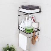 浴室置物架免打孔壁掛式廚房收納架衛生間洗漱架U型墻上轉角收納架