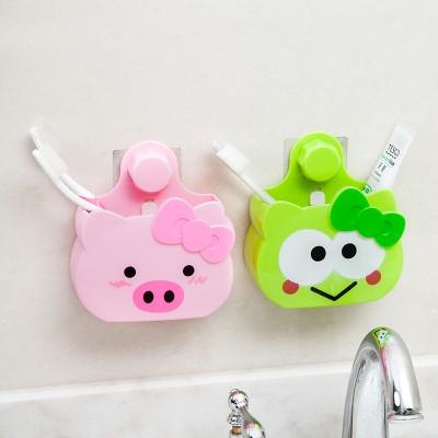 牙刷置物架家用牙刷架衛生間卡通吸壁式牙刷架洗漱套裝刷牙杯架子