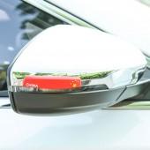 弧形汽車防撞條防刮防蹭車貼汽車通用型防撞條車門防撞條后視鏡防撞條(4片裝)