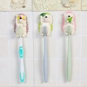 牙刷置物架卡通創意牙刷掛架子衛生間卡通刺猬樹脂吸壁式情侶壁掛牙刷架