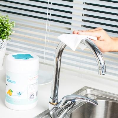 抽油煙機清潔濕巾一次性去油污濕專用擦油紙吸油紙紙巾廚房濕紙巾(80片)