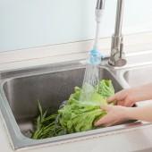 水龍頭防濺頭通用家用廚房透明可彎曲自來水節水花灑可旋轉過濾閥省水延伸器(長款)