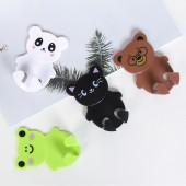 創意卡通動物掛鉤強力無痕掛鉤塑料貼墻動物掛鉤廚房浴室粘鉤壁掛