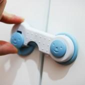 兒童鎖多功能家用寶寶笑臉防夾手防護鎖嬰兒防護用品抽屜櫥柜門保護扣  兩個裝(237)