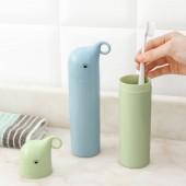 便攜牙刷杯帶蓋洗漱杯子套裝牙膏收納盒簡約情侶漱口杯小象旅行牙刷盒