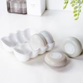 按壓便攜圓形密封分裝瓶旅行密封洗發水沐浴露乳液收納盒化妝品空瓶子套裝(4個裝)