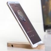 手機支架懶人床頭桌面固定支架木質手機架平板支架便攜通用手機座