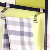 免打孔毛巾架創意掛式抹布掛鉤廚房收納架不銹鋼衛生間掛毛巾架子(短款23cm)ZT-2078