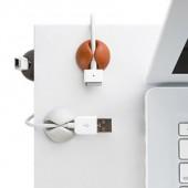 桌面理線器電線固線夾自粘固線器數據線收納充電線整理卡扣固定器 黑白咖啡(6個裝)CC-908A