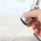 防濺鍍銀色水龍頭加長延伸器廚房家用自來水花灑節水可旋轉過濾噴頭嘴(短款)