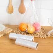 家用加厚背心型保鮮袋食品袋包裝袋透明塑料袋手提袋超市連卷袋子 100只裝(小號)OKS-280