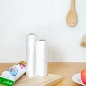 家用加厚背心型保鮮袋食品袋包裝袋透明塑料袋手提袋超市連卷袋子 100只裝(大號)OKS-420