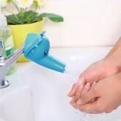 卡通大頭立體兒童導水槽水管洗手器水龍頭延伸器家用水龍頭防濺頭