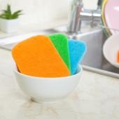 百潔布家用洗鍋工具抹布洗碗布擦桌布擦碗巾廚房刷碗海綿布(5片裝)