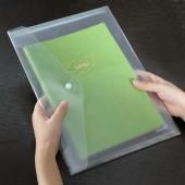 A4塑料加厚按扣文件袋透明檔案袋票據袋資料袋學生試卷袋辦公用品 5505
